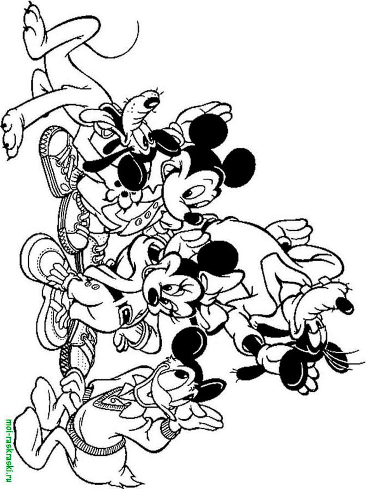 Mickey Mouse Boyama Sayfalari 56 Adet Huzur Sayfasi