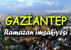 Gaziantep Ramazan Imsakiyesi 2019 Iftar Ve Sahur Saatleri