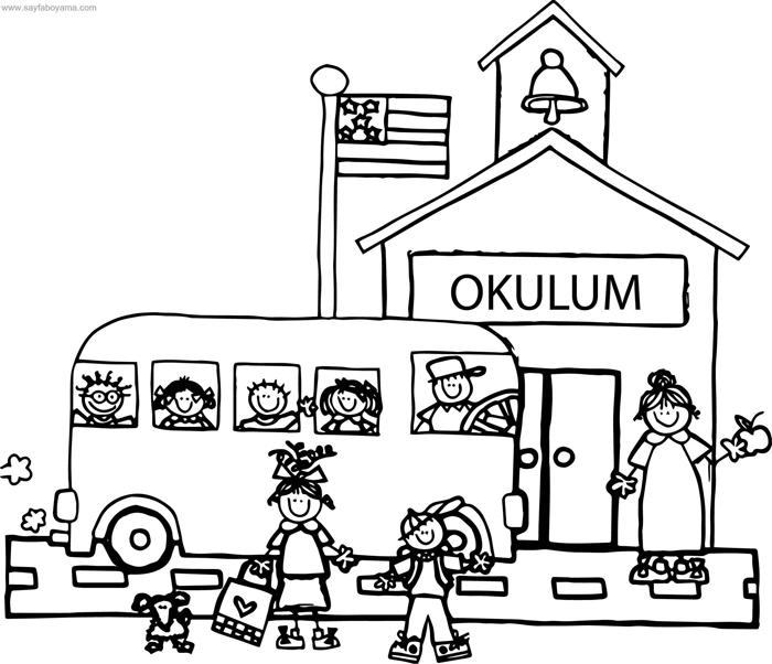 Okul Boyama Sayfalari 15 Adet Huzur Sayfasi