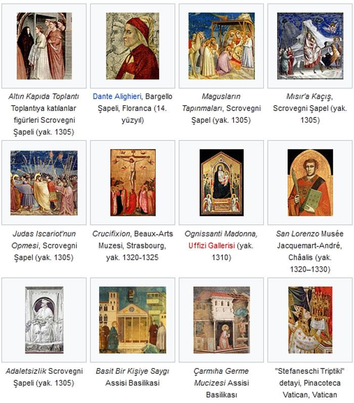 Giotto di Bondone eserleri
